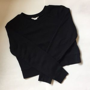 Black Cropped Sweatshirt